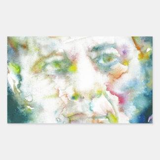 john fitzgerald kennedy - watercolor portrait.2 sticker