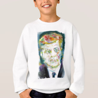 john fitzgerald kennedy - watercolor portrait.2 sweatshirt