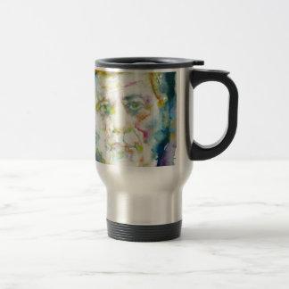 john fitzgerald kennedy - watercolor portrait.2 travel mug