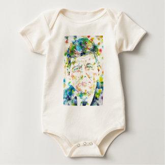 john fitzgerald kennedy - watercolor portrait.3 baby bodysuit