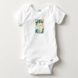 john fitzgerald kennedy - watercolor portrait.3 baby onesie