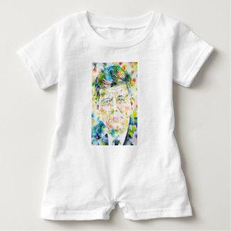 john fitzgerald kennedy - watercolor portrait.3 baby romper