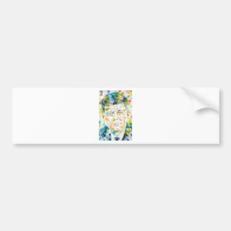 john fitzgerald kennedy - watercolor portrait.3 bumper sticker