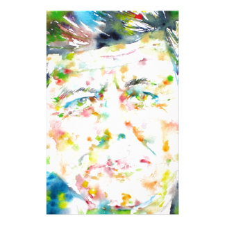 john fitzgerald kennedy - watercolor portrait.3 stationery
