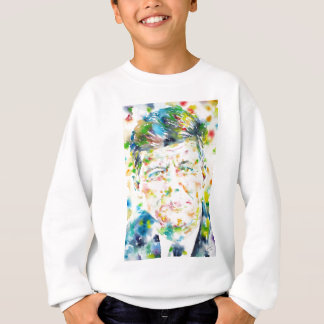 john fitzgerald kennedy - watercolor portrait.3 sweatshirt