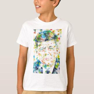 john fitzgerald kennedy - watercolor portrait.3 T-Shirt