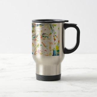john fitzgerald kennedy - watercolor portrait.3 travel mug
