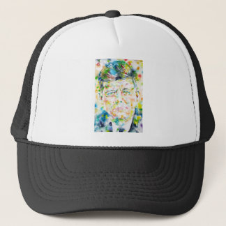 john fitzgerald kennedy - watercolor portrait.3 trucker hat