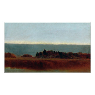 John Frederick Kensett Salt Meadow in October Poster