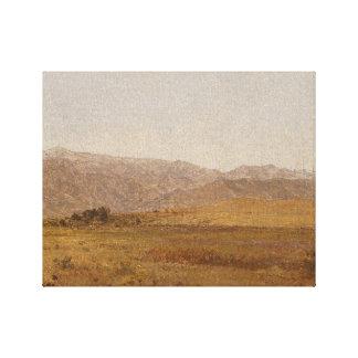 John Frederick Kensett - Snowy Range and Foothills Canvas Print