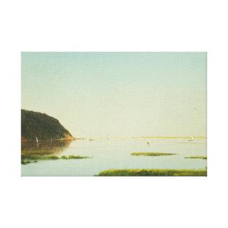 John Frederick Kensett - View of the Shrewsbury Canvas Print