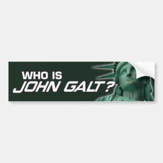 John Galt Bumpersticker Bumper Sticker