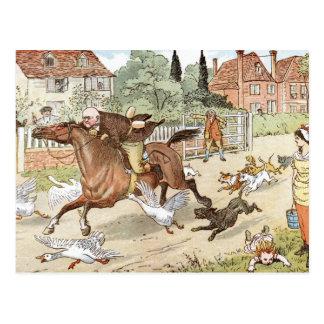 John Gilpin ridings though the village Postcard