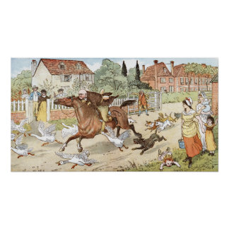 John Gilpin ridings though the village Poster