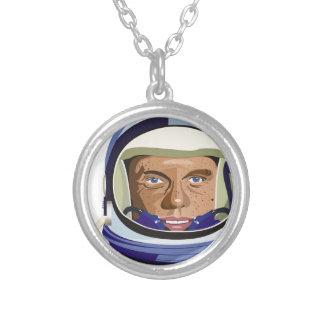 John Glenn Silver Plated Necklace