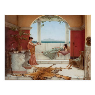 John Godward- The Sweet Siesta of a Summer Day Postcard