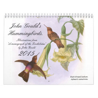 John Gould's Hummingbirds 2015 Calendars