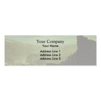 John Grimshaw- Full Moon behind Cirrus Cloud Business Card Templates