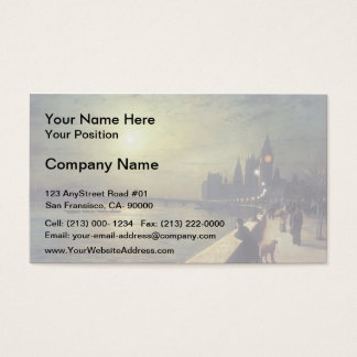 John Grimshaw- Reflections on the Thames Business Card