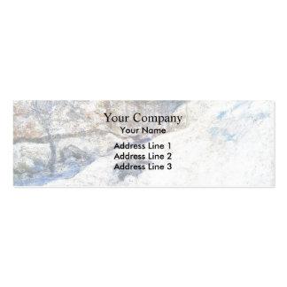 John Henry Twachtman- Brook in Winter Business Card Templates