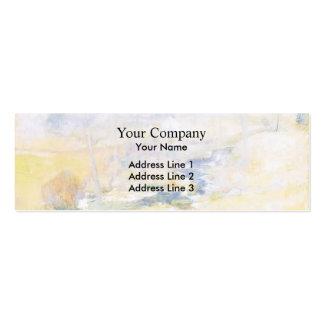 John Henry Twachtman- End of Winter Business Card Template