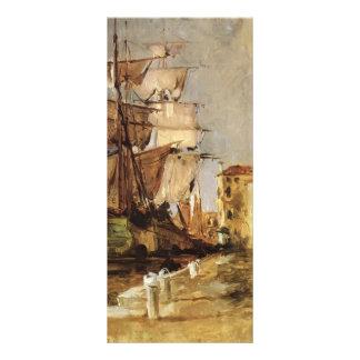 John Henry Twachtman- Venetian Sailing Vessel Rack Cards