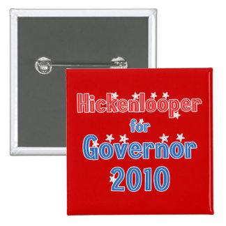 John Hickenlooper for Governor 2010 Star Design 2 Inch Square Button