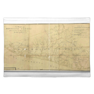 John Hills Map of Monmouth County New Jersey 1781 Place Mats