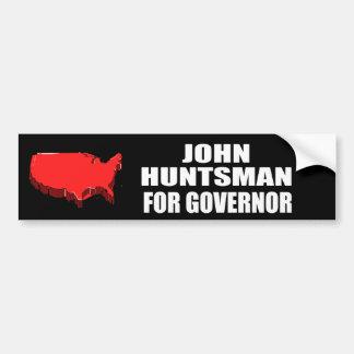 JOHN HUNTSMAN FOR GOVERNOR BUMPER STICKERS