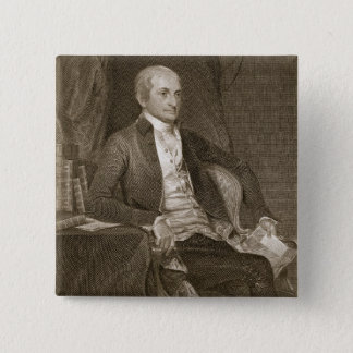 John Jay, engraved by Asher Brown Durand (1796-188 2 Inch Square Button