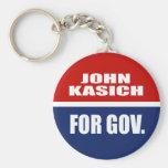 JOHN KASICH FOR GOVERNOR BASIC ROUND BUTTON KEYCHAIN