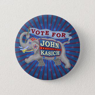 John Kasich President 2016 Republican Elephant V2 2 Inch Round Button