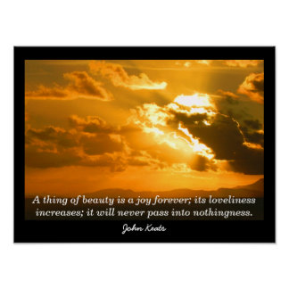 John Keats Quote - Art Print Poster