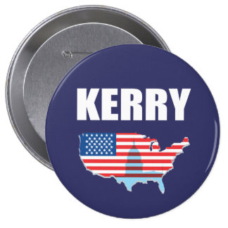 JOHN KERRY Election Gear 4 Inch Round Button