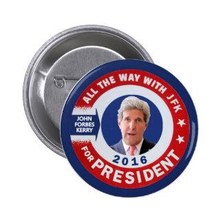 John Kerry pour le président 2016 Macaron Rond 5 Cm