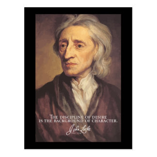 John Locke - Disciple of desire quote postcard