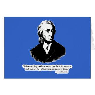 John Locke Quote T shirt, Hoodie or Mug Card