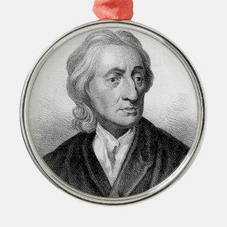 John Locke Silver-Colored Round Ornament