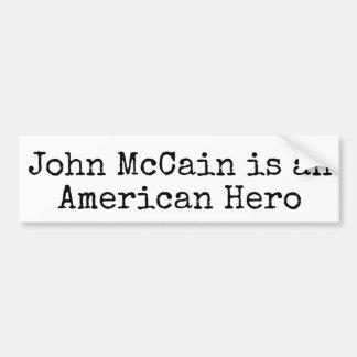 John McCain Bumpersticker: MCCAIN IS AMERICAN HERO Bumper Sticker