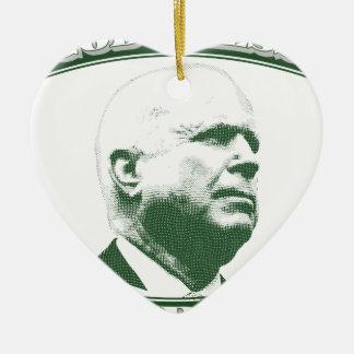 John McCain Ceramic Heart Ornament