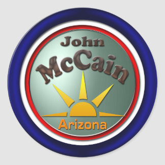 John McCain Round Sticker