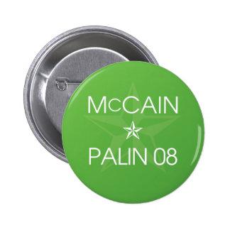 John McCain * Sarah Palin 2008 2 Inch Round Button
