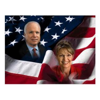 John McCain & Sarah Palin, 2008 Elections Postcard