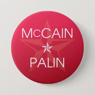 John McCain * Sarah Palin 3 Inch Round Button