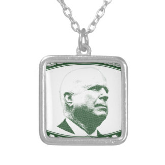 John McCain Silver Plated Necklace
