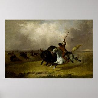 John Mix Stanley - Buffalo Hunt on the Southwester Poster