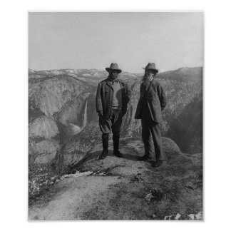 John Muir and Teddy Roosevelt Poster