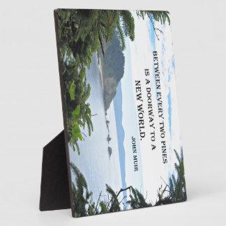 """John Muir: """"Between every two pines is a doorway"""" Plaque"""