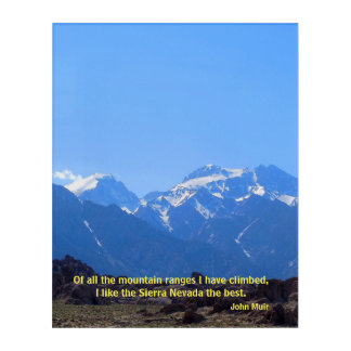 John Muir on the Sierra Nevada Acrylic Wall Art