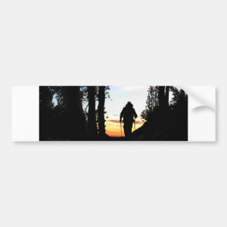 John Muir Trail Hiker 2 - Sierra Nevada Mountains Bumper Sticker